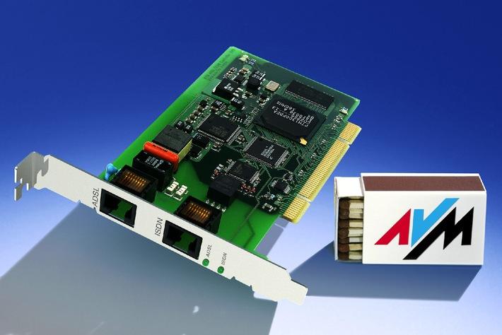 AVM auf der CeBIT 2001 - ADSL/ISDN-Controller