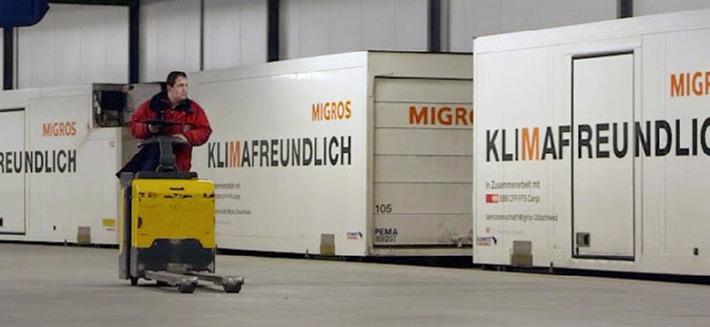 Migros: hausse de 4% des transports par rail