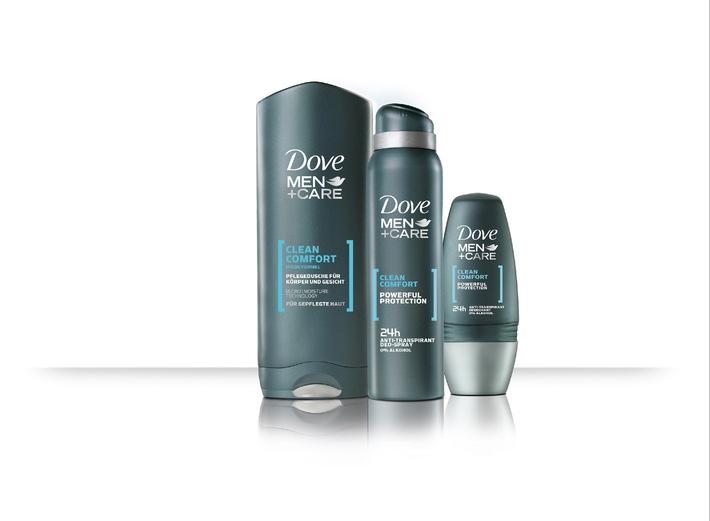 Intensive Pflege bei starker Deowirkung und erfrischender Reinigung: Dove führt mit MEN+CARE erstmals Pflegeserie für Männer ein (mit Bild)