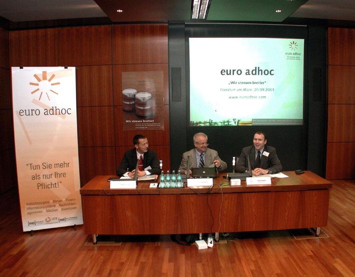 Neuer internationaler Service für Ad-hoc-Publizität heute in Frankfurt vorgestellt