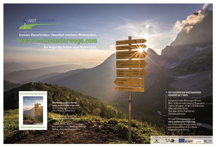 Grenzen überschreiten. Unendlich wandern. www.weitwanderwege.com