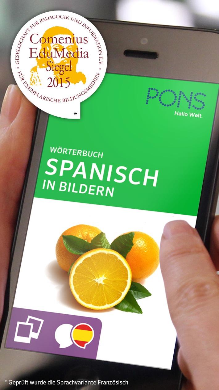 Sprachen lernen unterm Sonnenschirm - mit den Bildwörterbuch-Apps von PONS für Spanisch, Französisch, Italienisch und Englisch