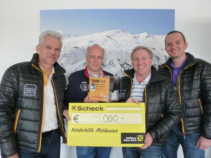 Zillertal Arena Gäste spenden 15.000 Euro für Kinder in Not