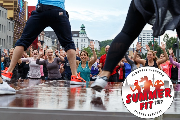 Summerfit 2017: Kostenloses Fitness-Festival in Hamburg / Mehr als 30 Open Air Fitness-Kurse an den schönsten Plätzen Hamburgs