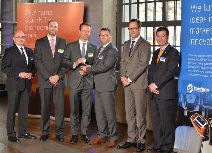 Yanfeng Automotive Interiors verlieh Auszeichnungen für besondere Leistung seiner Zulieferer - 15 Lieferanten erhielten European Supplier Award 2016