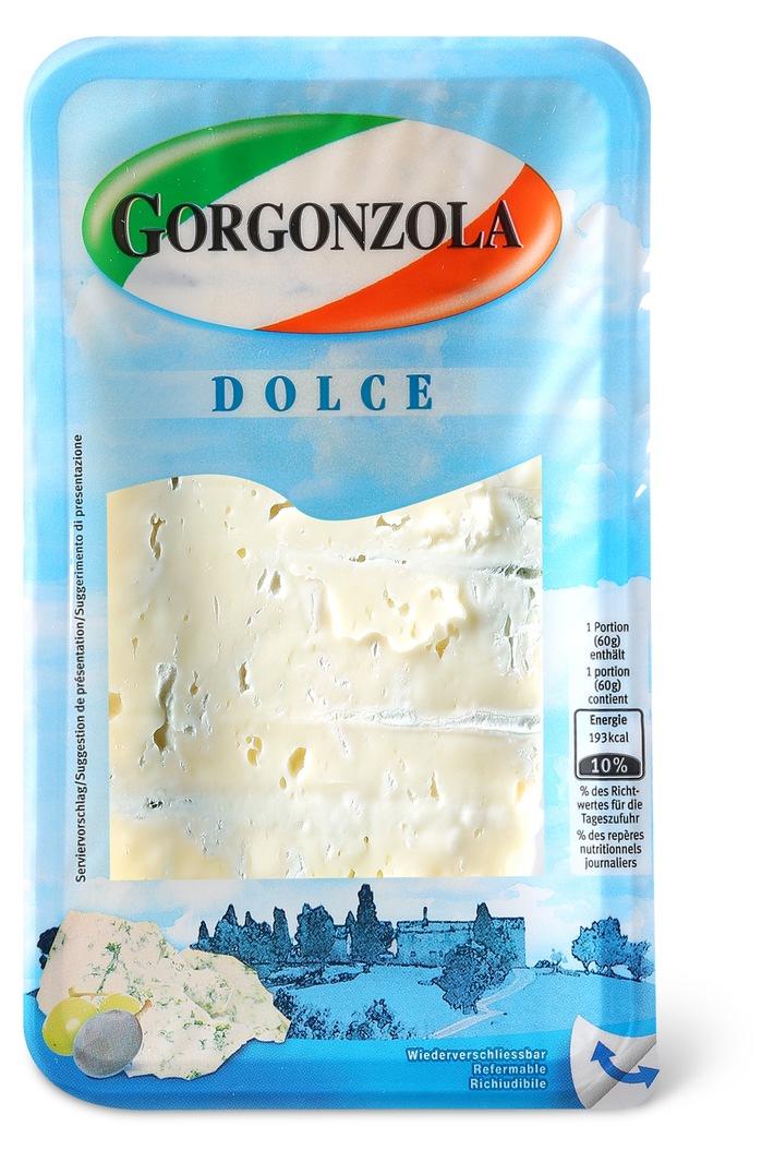 Migros rappelle les produits Gorgonzola Dolce