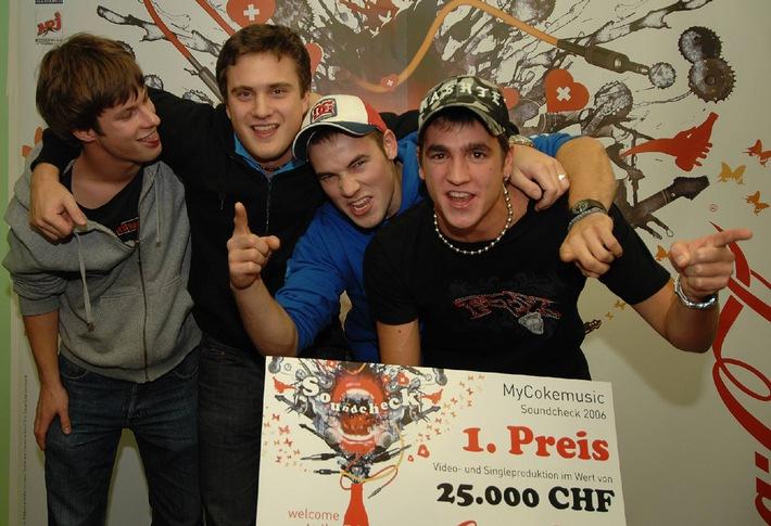 """Songcontest """"Soundcheck 2006"""" auf www.mycokemusic.ch: Die Siegerband steht fest"""