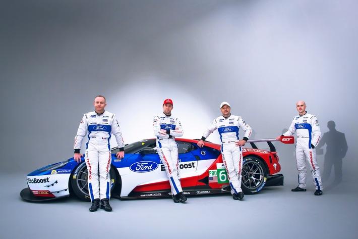 Ford stellt Fahrer-Aufgebot für die beiden Ford GT in der FIA Langstrecken-Weltmeisterschaft vor