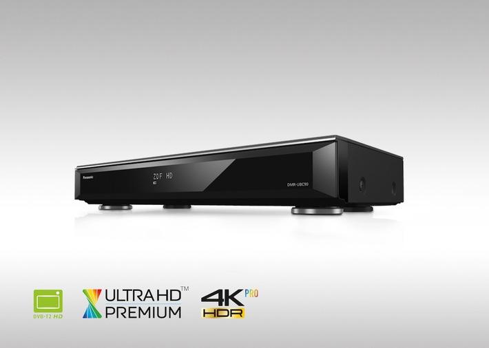 Panasonic Ultra HD Blu-ray Recorder DMR-UBC90 und UBC80 für DVB-T2 HD und Kabel / Ultra HD Premium-zertifizierte Komplettlösungen für Fernsehen, UHD Blu-ray mit HDR und 4K Videostreaming