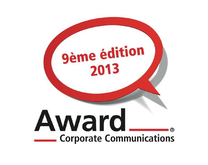 Award Corporate Communications® 2013 / Lancement des inscriptions pour le 9e Award-CC