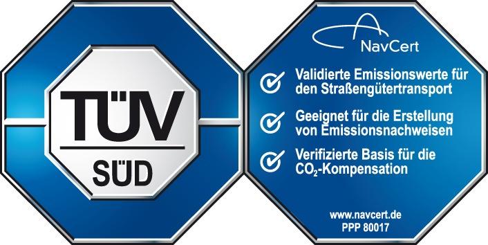 Neu: Transportroutenplaner map&guide mit TÜV-zertifizierter Emissionsberechnung (mit Bild)