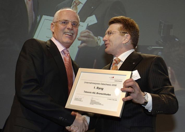 Telsonic gewinnt Unternehmerpreis Ostschweiz 2006