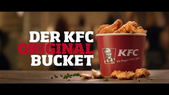 """KFC bringt Markenclaim """"It's finger lickin' good"""" zurück / TV-Spot inszeniert den Markenkern und präsentiert neue Markenausrichtung"""