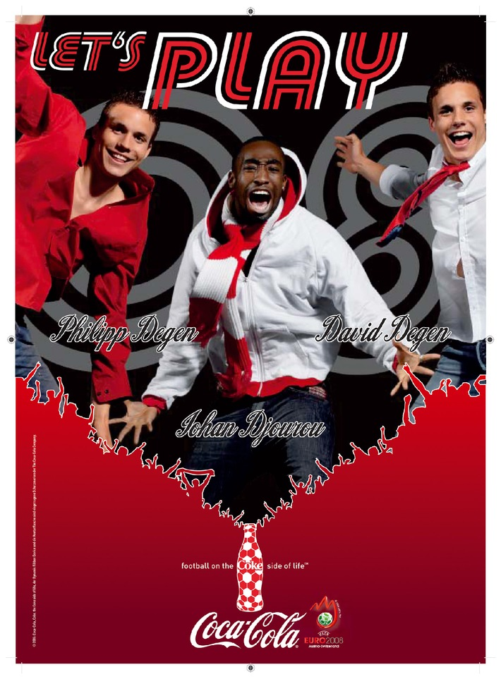 """Football on the Coke Side of Life"" mit Johan Djourou, David und Philipp Degen"