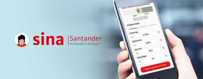 """Innovative Sparplattform: Santander startet Web-App """"sina"""""""