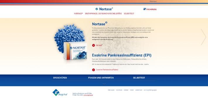 Völlegefühl, Durchfall & Blähungen: Oft steckt eine Bauchspeicheldrüsenschwäche dahinter / Neue Webseite www.nortase.de bietet Informationen und Servicematerial für Betroffene