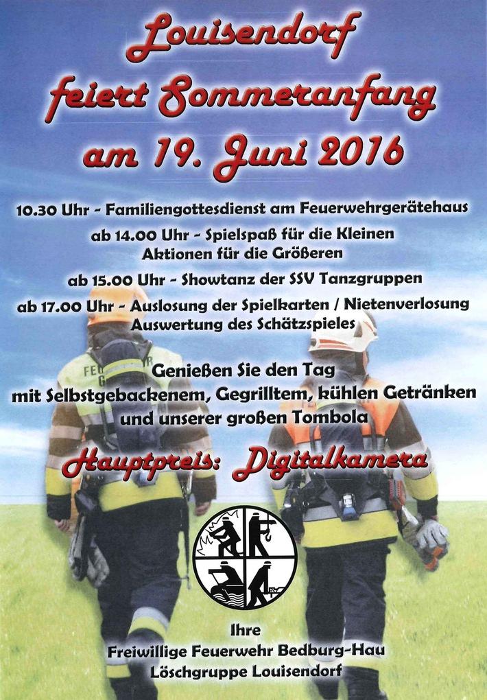 fw-kle: herzliche einladung zum 30. sommerfest der freiwilligen, Einladungen