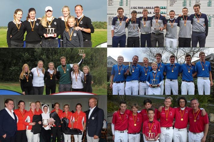 Sechs Clubs tragen sich in DMM-Siegerlisten ein / Jugend-Mannschaftsmeisterschaften zum Saisonabschluss