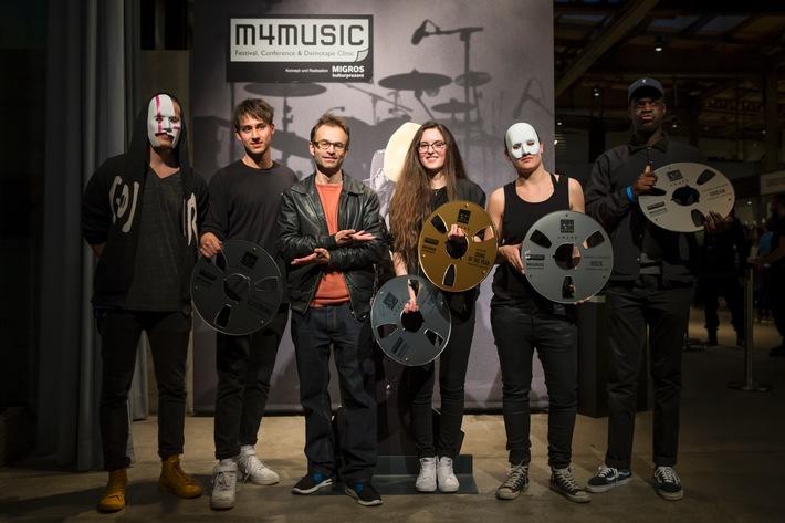 19e édition du festival de musique pop du Pour-cent culturel Migros / Succès de m4music: les distinctions «Demo of the Year » et «Best Swiss Video Clip» ont été remises