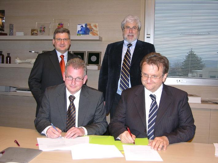 Strategische Zusammenarbeit der europäischen Orthopädie-Firmen Mathys AG Bettlach und Lima-Lto S.p.A.