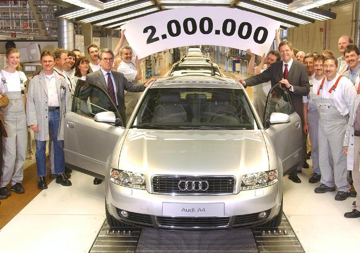 Produktions-Jubiläum der erfolgreichsten Modellreihe / Zweimillionster Audi A4 in Ingolstadt gefertigt
