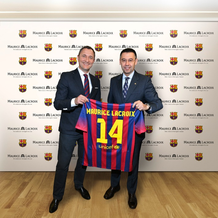Die perfekte Symbiose. Maurice Lacroix wird neuer offizieller Uhrenpartner des FC Barcelona (BILD)