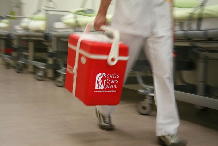 Swisstransplant: Konstant tiefe Spenderate - Massnahmen zur Verbesserung laufen an (BILD)