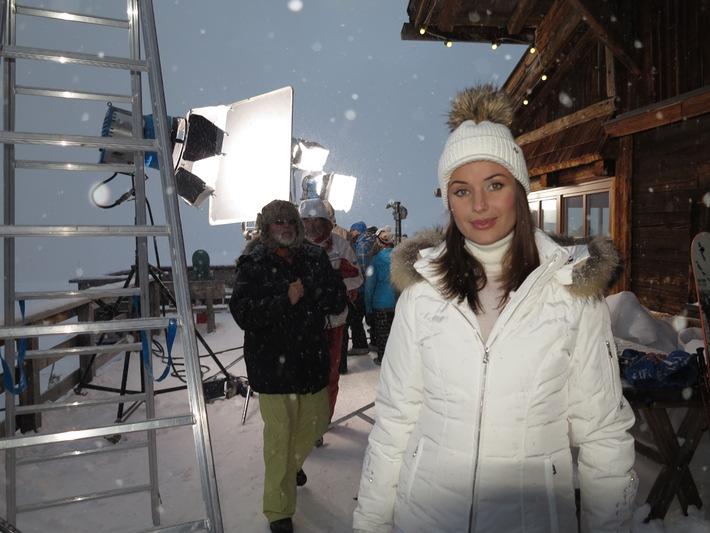 Ehemalige Miss Universe dreht im Kühtai den neuesten Werbefilm für den größten Mobilfunkbetreiber Russlands