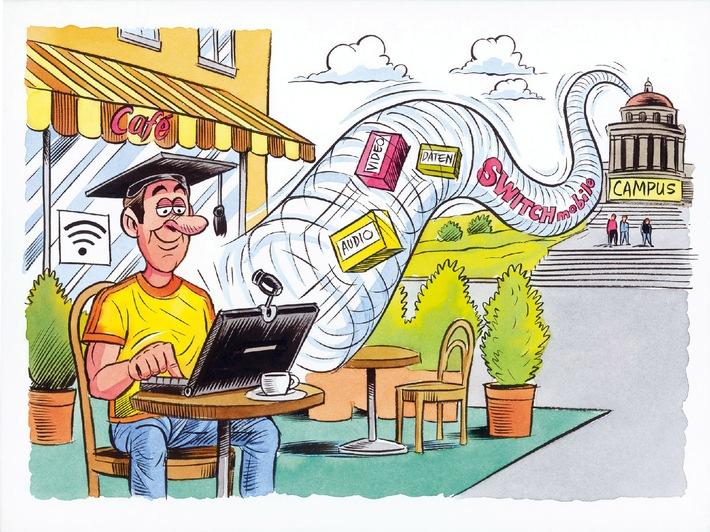 Une étape de l'e-Academia - Les étudiants surfent depuis leurs Hotspots publics comme depuis leurs hautes écoles
