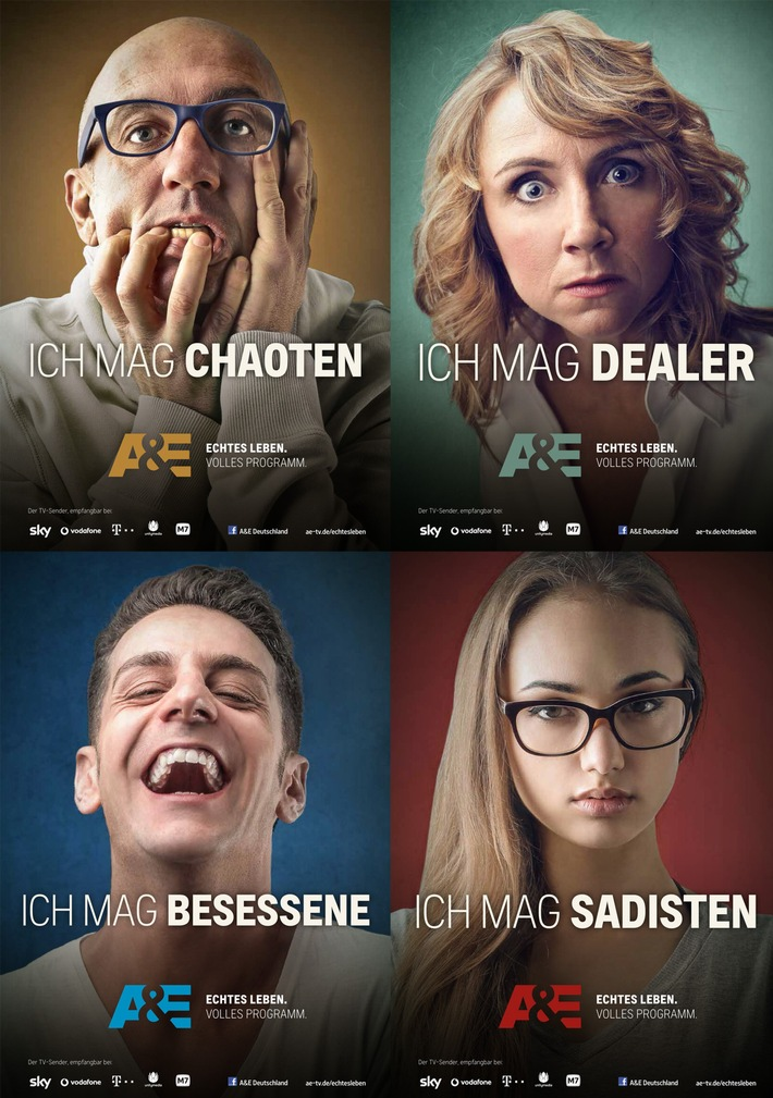 """Echtes Leben. Volles Programm."" - TV-Sender A&E startet neue Markenkampagne"