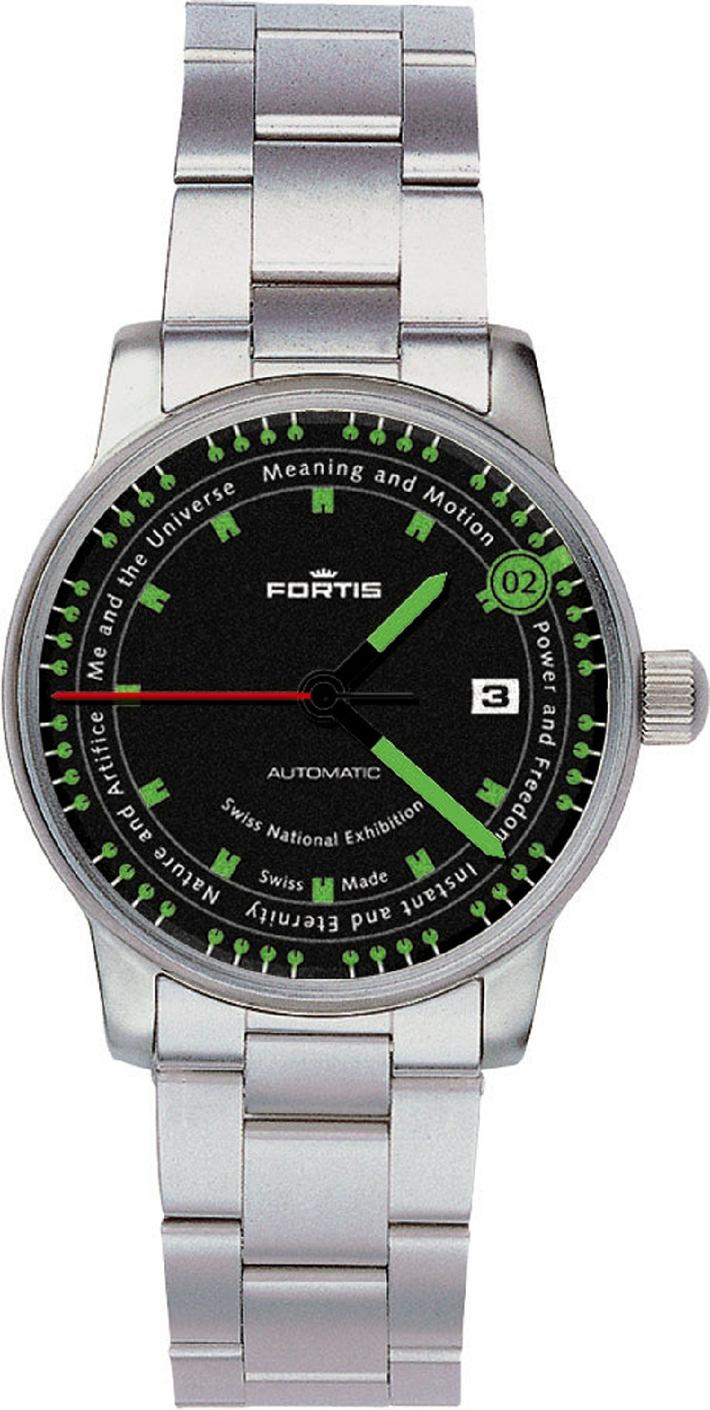 2002 exemplaires limités de montres EXPO.02 avec mouvement automatique