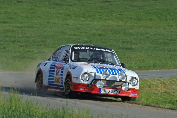 Rallye Sachsen: SKODA Piloten Fabian Kreim/Frank Christian wollen den zweiten Saisonsieg