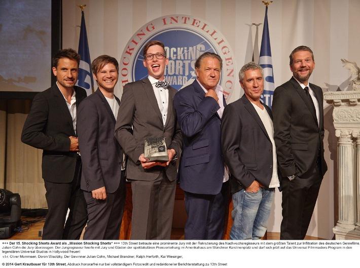 Julian Cohn gewinnt den 15. Shocking Shorts Award von 13th Street