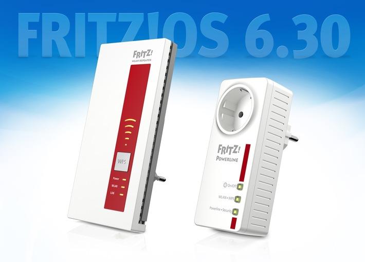 Update für FRITZ!WLAN Repeater und FRITZ!Powerline - das ganze Team des FRITZ-Heimnetzes powered by FRITZ!OS