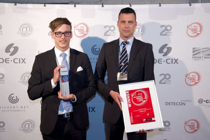 artegic Real Time Marketing Automation mit ECO Internet Award 2015 ausgezeichnet