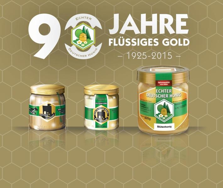 90 Jahre Flüssiges Gold / Jubiläum des Imker-Honigglases steht bei Messepräsentation im Mittelpunkt