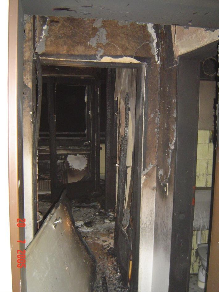 FW-E: Wohnungsbrand forderte ein Menschenleben