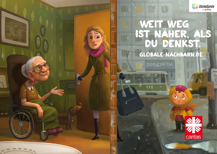"Caritas-Kampagne 2014: ""Weit weg ist näher, als du denkst"""