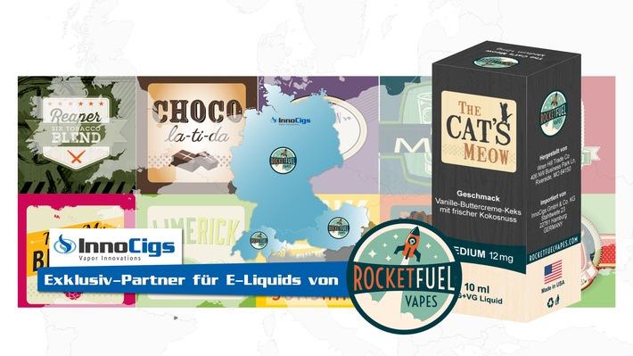 Endlich auch in Deutschland: InnoCigs wird Exklusiv-Distributor für Rocket Fuel Erfolgsliquids aus den USA