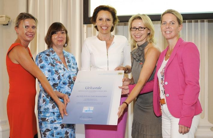 w&p Wilde & Partner Public Relations GmbH gewinnt Preis der Bayerischen Staatsregierung - Vorbildcharakter für Vereinbarkeit von Familie und Beruf