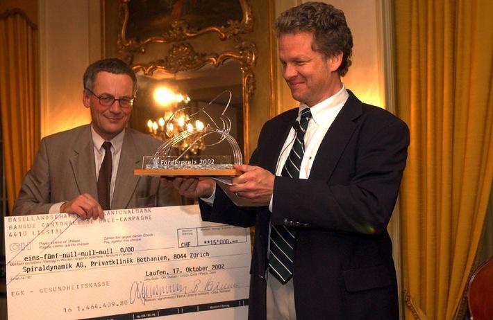 """Förderpreis 2002 für """"Zehn Jahre Spiraldynamik®"""""""