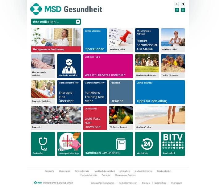 Neues Gesundheitsportal im Netz: MSD Gesundheit