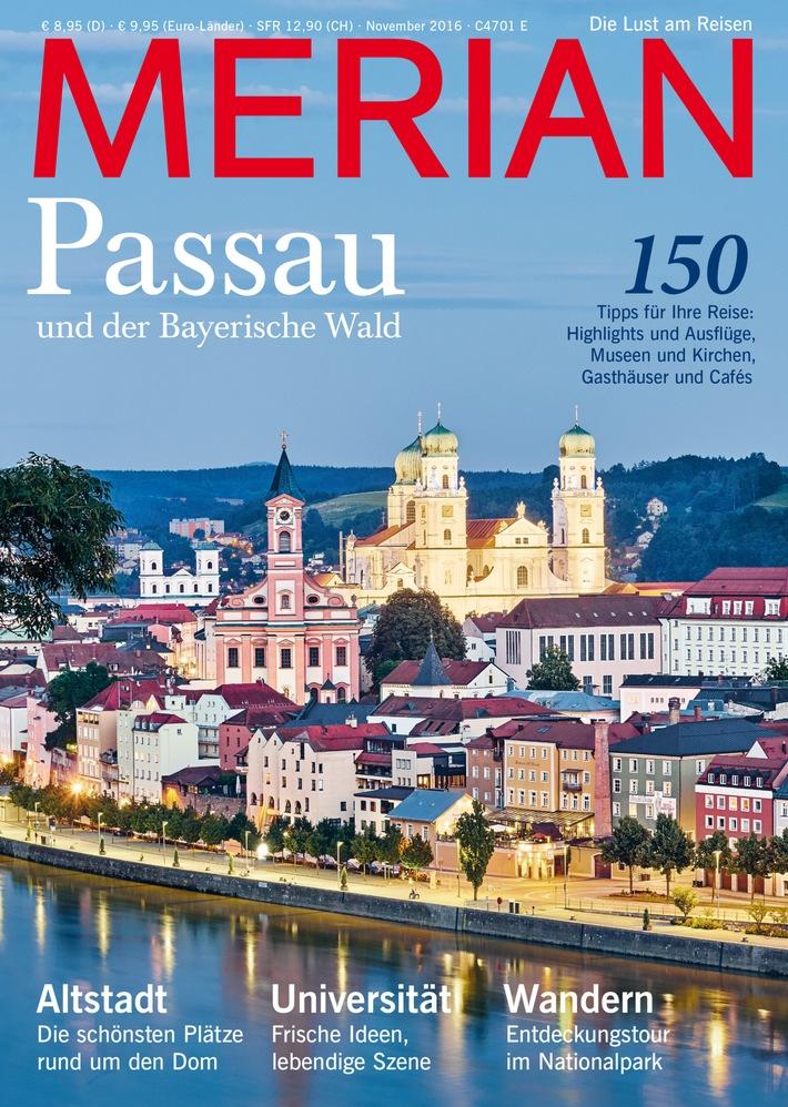 """""""Kleine Stadt, große Klasse"""" / Neu: MERIAN Passau und der Bayerische Wald"""