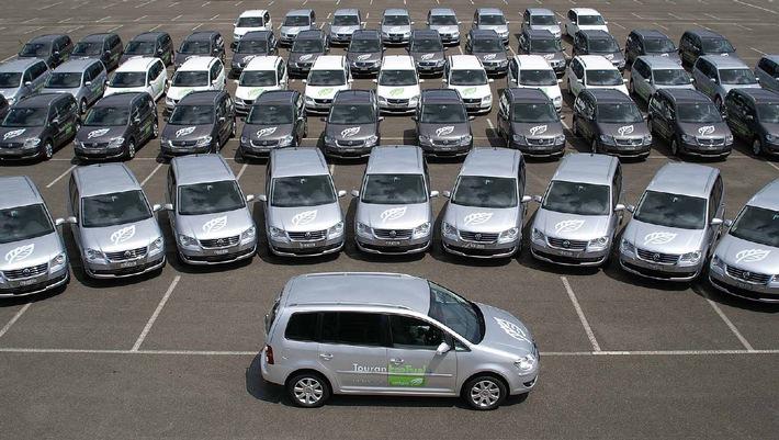 VW als Official Partner am Gigathlon 2007