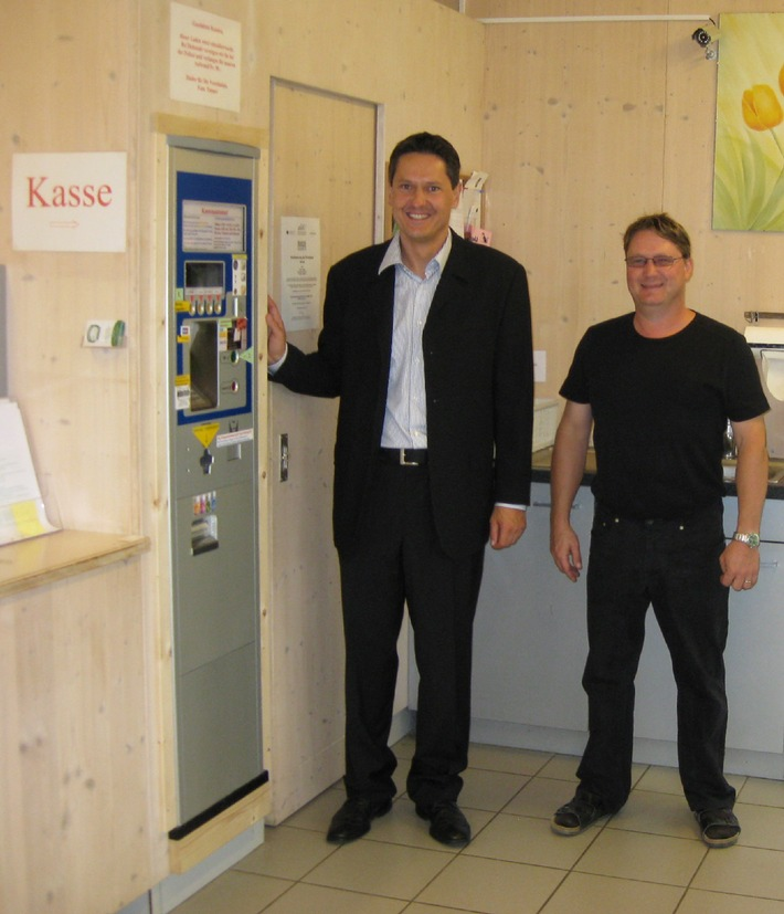 Kürbisse am Parkscheinautomat: Am Tannerhof beweist der CITEA seine Vielseitigkeit