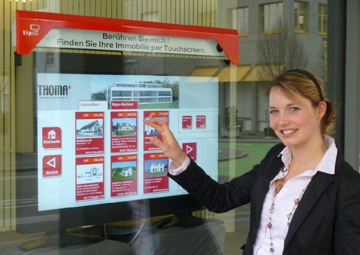 Praxiserprobte Weltneuheit: Schaufenster Touch tipi2