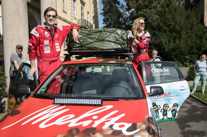 Melitta Presseinformation - Prinzessin Lilly und Prinz Donatus starten zur Mongol Charity Rally