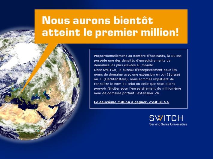 SWITCH: Bientôt un million de noms de domaine en Suisse