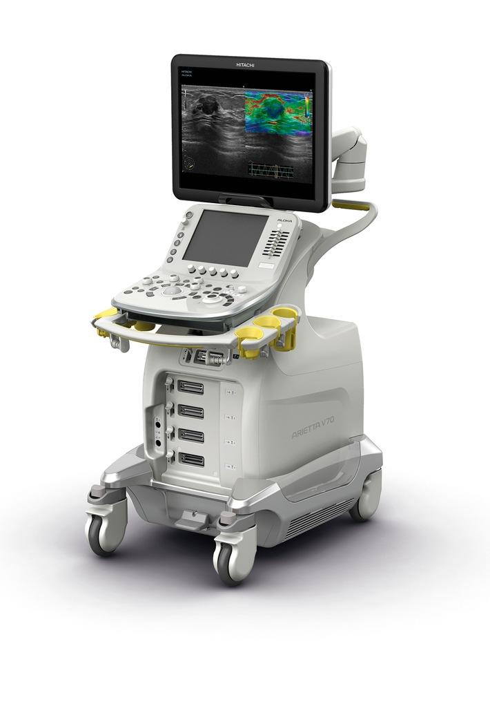 Hitachi Aloka will present the ARIETTA V70*1 with enhanced Elastography functions