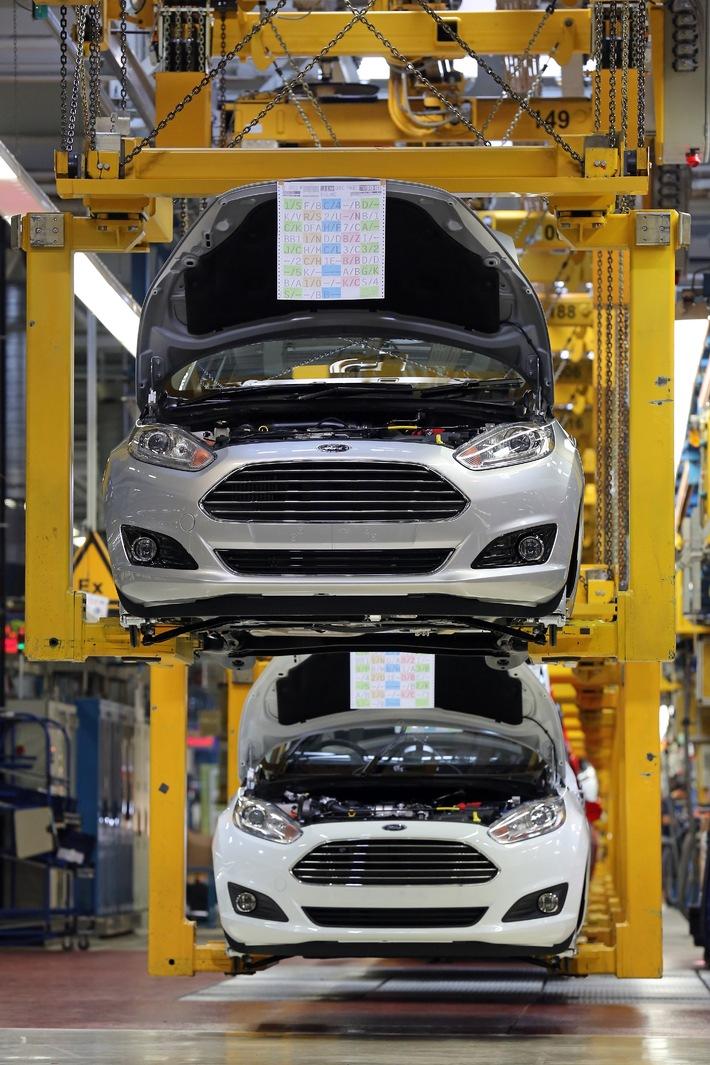 Die flexible Kölner Fahrzeug-Fertigung macht es möglich: Ford Fiesta wird in der laufenden Produktion stetig optimiert